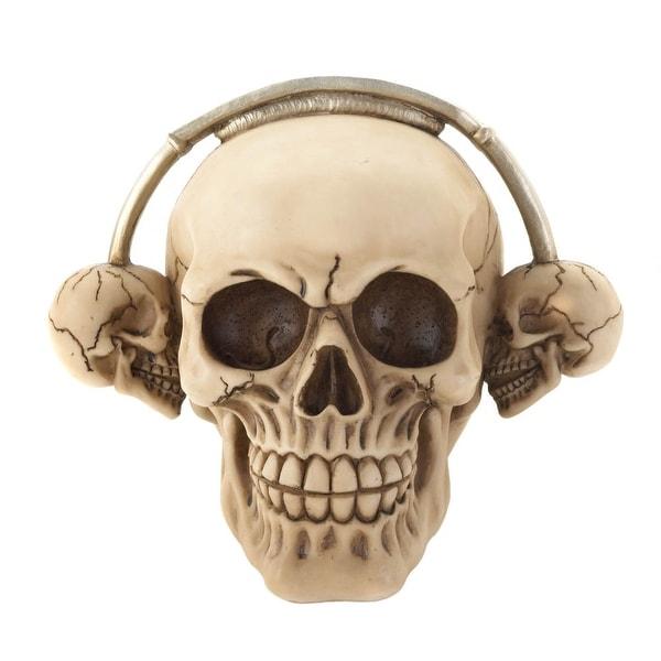 New Arriving Rockin' Headphone Skull Figurine