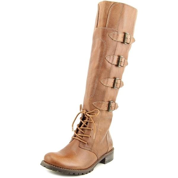 Matisse Battle Women Round Toe Leather Tan Knee High Boot