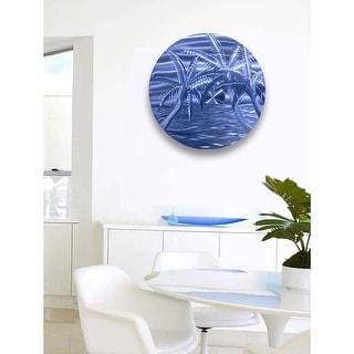 Statements2000 Tropical Metal Wall Art Beach Ocean Blue Accent Painting by Jon Allen - Azure Beach