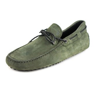 Tod's Laccetto My Colors Gommini 122 Men Suede Green Moccasins