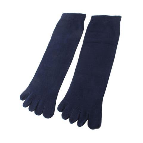 Unisex Ankle High Length Elastic Five Fingers Feet Toe Socks Pair