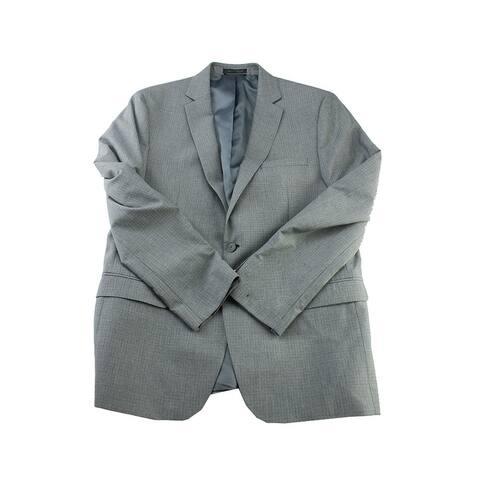 M151 Grey Checkered Slim Fit Blazer XL