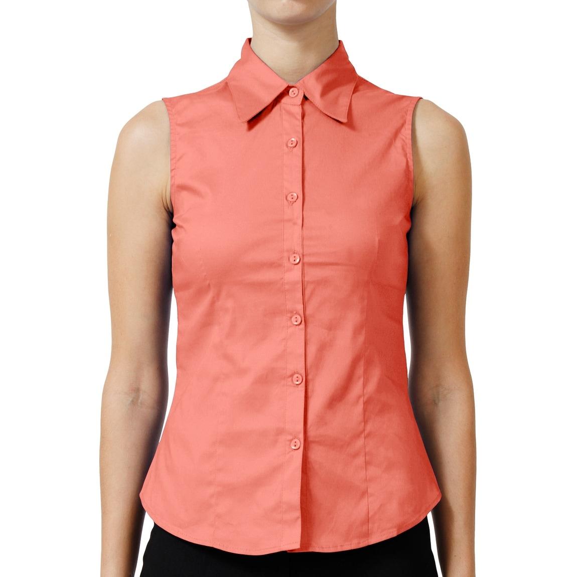 button down shirt sleeveless