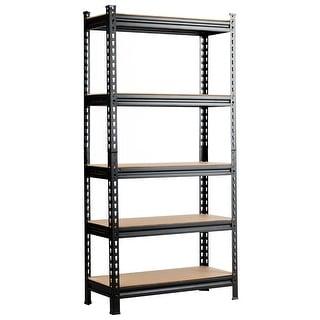 Costway 5-Tier Metal Storage Shelves 60''73'' Garage Rack W/Adjustable
