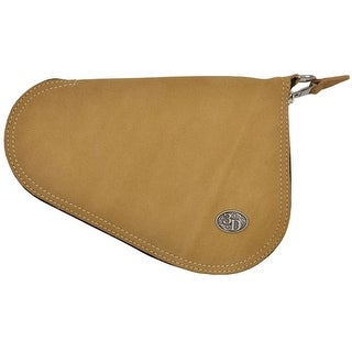 3D Western Pistol Case Leather Padded Roughout S Tan