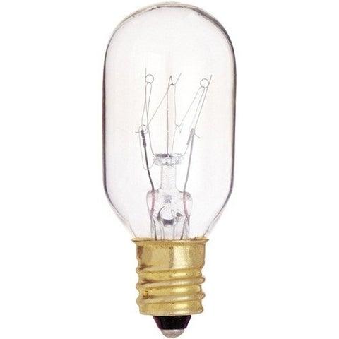Satco S4718 Incandescent Appliance Light Bulb, 15 Watts, 130 Volt