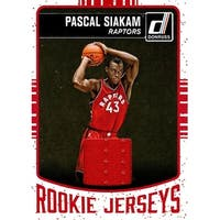 Signed Siakam Pascal Toronto Raptors Pascal Siakam 201617 Donruss Rookie Jersey Unsigned Basketball