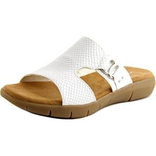 Aerosoles New Wip Women Open Toe Synthetic White Slides Sandal