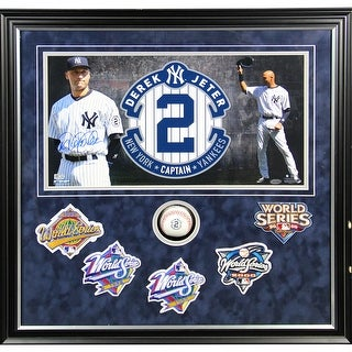 c97b9ee3b3d Shop Derek Jeter Final Season 24x24 Framed Collage w 5 World Series Patches  and Final Season Baseball - Free Shipping Today - Overstock - 12744032
