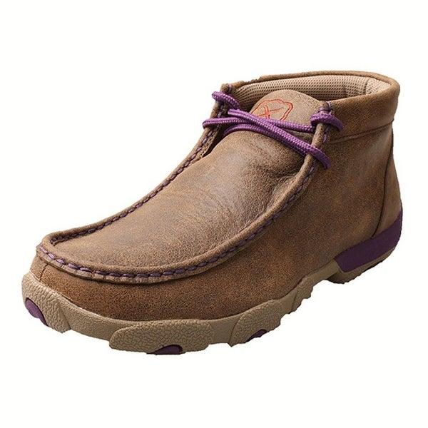 Twisted X Casual Shoes Womens Driving Mocs Lace Bomber Purple