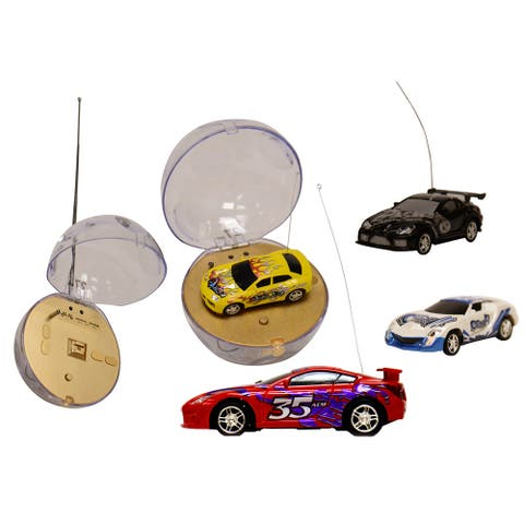 4 PACK Travel Size Remote Control Mini Rechargeable Racing Cars