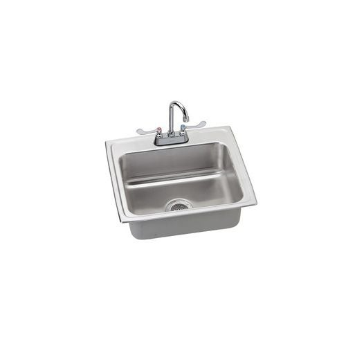 Elkay LR2219SC Utility Sink Topmount 18 Gauge Single Bowl Includes All  Supply Lines (LR2219)