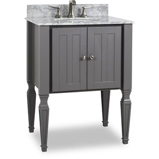 "Elements VAN089-T Jensen 28"" Vanity Set with Wood Cabinet, Marble Top and One Undermount Sink"