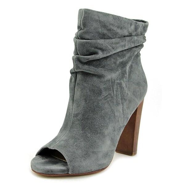 Splendid Jessika Women  Peep-Toe Suede Gray Ankle Boot