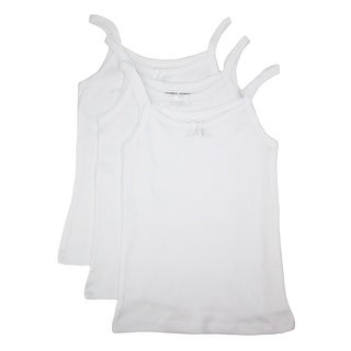 Rene Rofe Girl's Bow Front Cotton Cami (Pack of 3)
