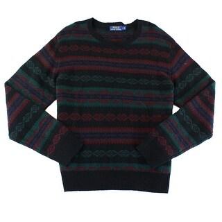 Polo Ralph Lauren NEW Black Mens Size Small S Crewneck Wool Sweater