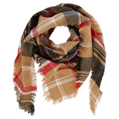 David & Young Women's Plaid Woven Triangle Scarf - one size