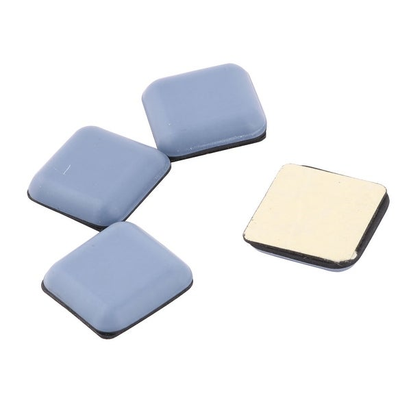 Household Square Shaped Furniture Chair Foot Cover Slider Moving Pad Light Blue 4pcs