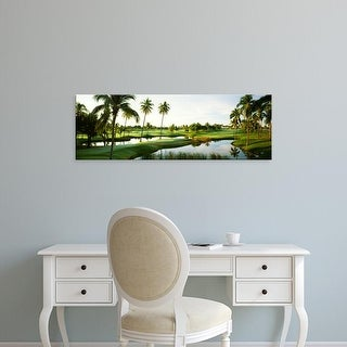 Easy Art Prints Panoramic Images's 'Golf course at Isla Navadad Resort in Manzanillo, Colima, Mexico' Canvas Art
