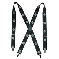 CTM® Men's Big & Tall Elastic Policeman Print Clip-End Suspenders