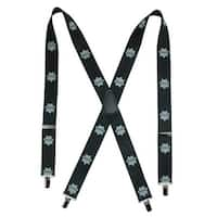 CTM® Men's Elastic Policeman Print Clip-End Suspenders - one size