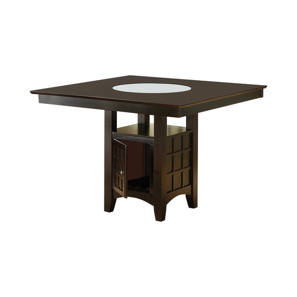 Copper Grove Cappuccino Solid Wood Lazy Susan Storage Dining Table ( TABLE ONLY). Opens flyout.