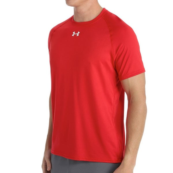 bd5cef72 Shop Under Armour Men's Tech Locker Short Sleeve T-Shirt 1268471 Red Small  - Free Shipping On Orders Over $45 - Overstock - 20759834