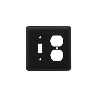Franklin Brass W10253-C Stamped Steel Round Single Toggle Switch and Single Duplex Wall Plate - N/A