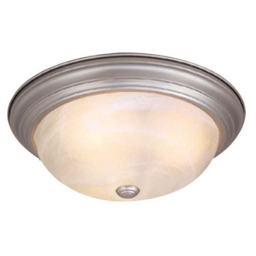 Vaxcel Lighting CC25115 Saturn 3 Light Flush Mount Indoor Ceiling Fixture with Frosted Glass Shade - 15.25 Inches Wide