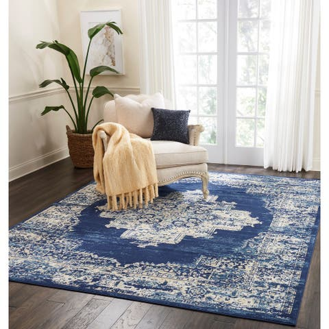 Nourison Grafix Distressed Medallion Area Rug