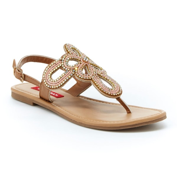 Unionbay Women Richmond Dress Rhinestones Thong Sandals - 6.5 b(m) us