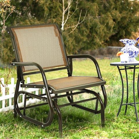 Swing Glider Chair Comfortable Patio Chair Garden Porch Backyard