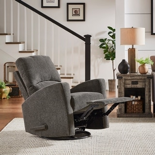 Link to Cornwall Dark Grey Swivel Glider Reclining Chair by iNSPIRE Q Classic - Reclining Chair Similar Items in Living Room Chairs