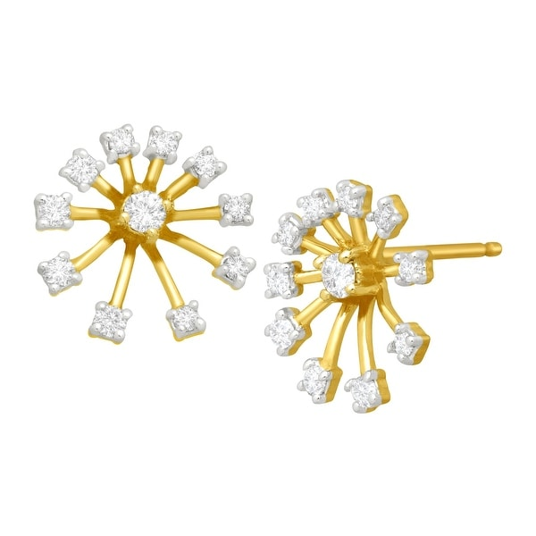 1/4 ct Diamond Starburst Stud Earrings in 10K Gold