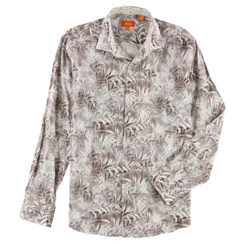 Tallia Mens Leaf Button Up Shirt