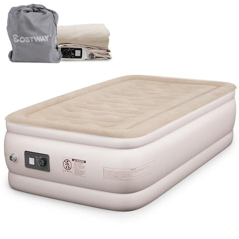 Costway Twin Size Air Mattress Inflatable Upgraded Luxury Airbed