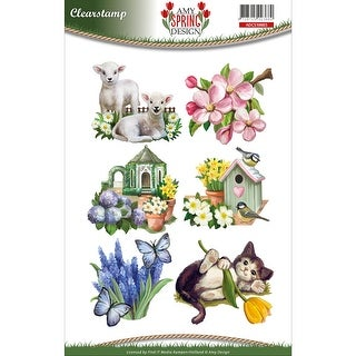 Find It Trading Amy Design Clear Stamp-Spring
