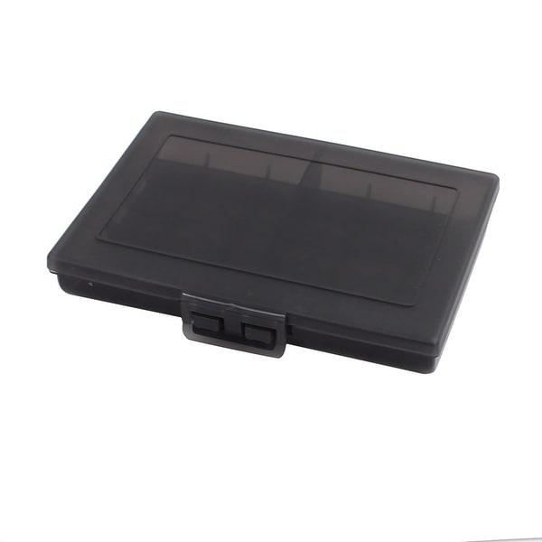 120mmx85mmx20mm Hard Plastic Battery Storage Case Holder Organizer Black