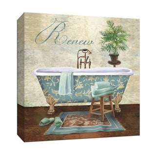 """PTM Images 9-147630  PTM Canvas Collection 12"""" x 12"""" - """"Bath Renew"""" Giclee Bathroom Art Print on Canvas"""