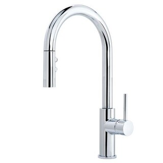 Miseno MK191 Gemma Pull-Down Multi-Flow Spray Kitchen Faucet - Includes Lifetime Warranty and Decorative Deck Plate