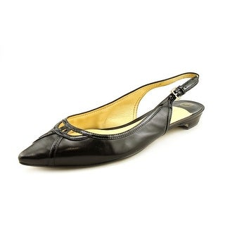 Ivanka Trump Aida Women Pointed Toe Patent Leather Slingback Heel