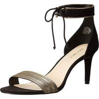 Nine West Womens Idilson Open Toe Ankle Strap Classic Pumps