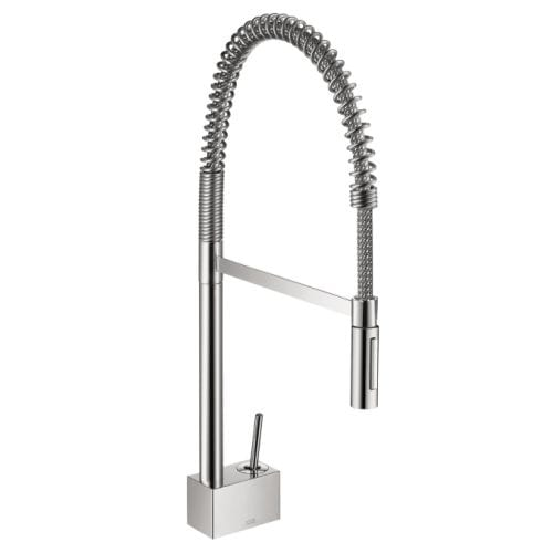 Axor 10820 Starck Pre Rinse Kitchen Faucet With Toggle Spray Diverter    Includes Lifetime Warranty
