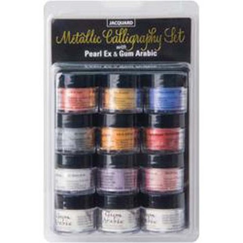 Assorted Colors - Jaquard Pearlex Metallic Calligraphy Set