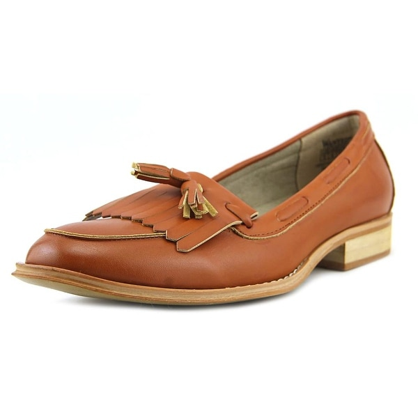 Wanted Charlie Women Round Toe Leather Tan Loafer