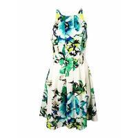 Vince Camuto Women's Floral Halter Scuba A-Line Dress - Print