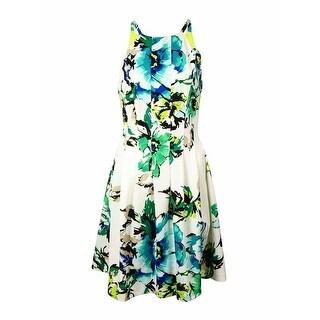 Vince Camuto Women's Floral Halter Scuba A-Line Dress - Print (2 options available)