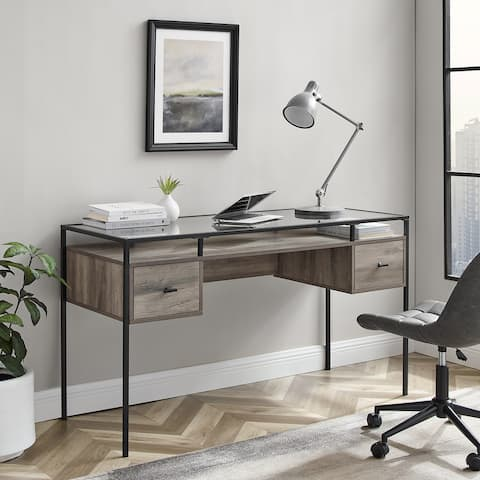 Carson Carrington 56-inch Glass Top Writing Desk