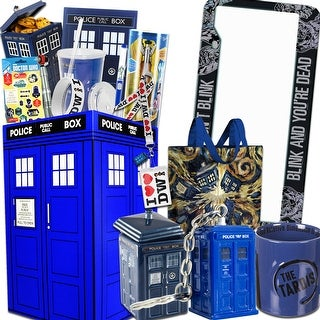 Doctor Who Gift Box with Tardis Cookie Jar, 12th Sonic Screwdriver, Dalek & More - multi
