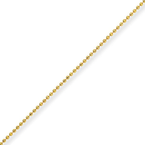 Chisel Yellow Rhodium over Brass 1.50mm Plated Ball Chain - 18 Inches (1.5 mm) - 18 in